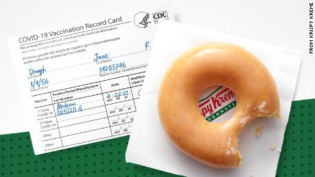 Krispy Kreme is making vaccinations extra sweet with a free doughnut a day for the rest of the year