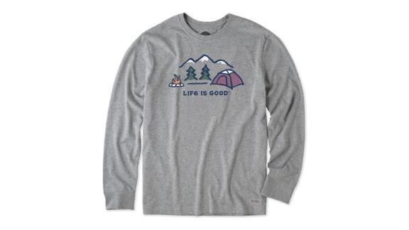 Men's Winter Campscape Long-Sleeve Crusher Tee