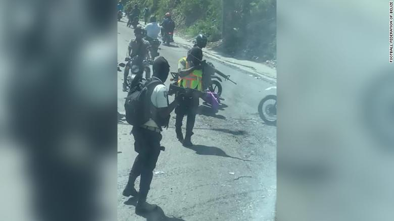 Belize football team bus held up by 'insurgents on motorcycles' in Haiti ahead of 2022 World Cup qualifier