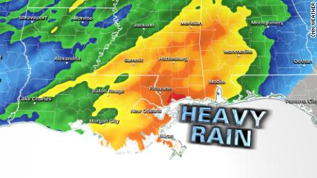 A half a foot of rain will fall across Louisiana over the next several days