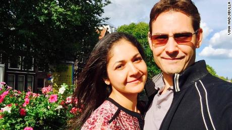Vina Nadjibulla and her husband Michael Kovrig, a former Canadian diplomat who has been detained in China since 2018.