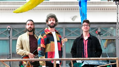 "(From left) The latest album from Adam, Jack and Ryan Met of AJR is ""OK Orchestra,"" out Friday."