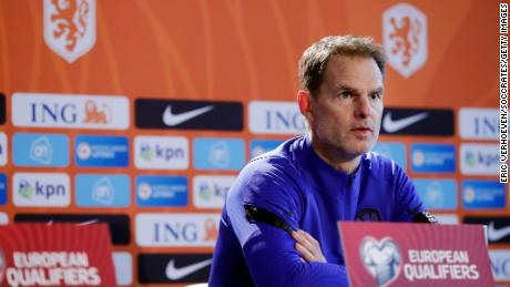 Netherlands head coach Frank de Boer during a press conference.