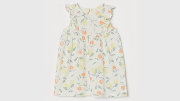 H&M Ruffle-Trimmed Jersey Dress
