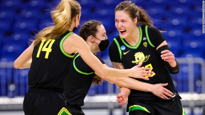 Sedona Prince, who used her voice to call out NCAA on poor amenities, has led Oregon to the Sweet 16