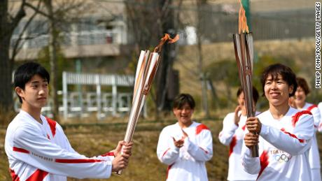 The Olympic torch relay has been making its way through the country since March 25.