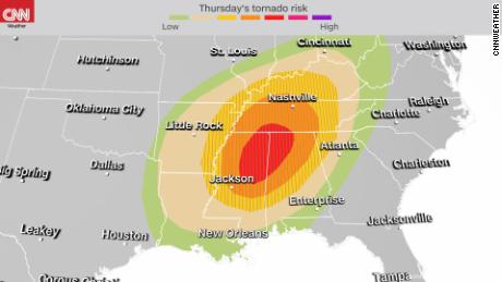 A rare high risk for tornadoes is issued for the South -- the second time in a week