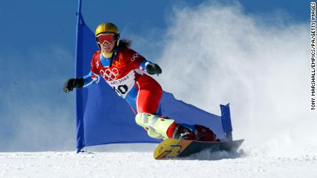 Julie Pomagalski twice represented France at the Winter Olympics.