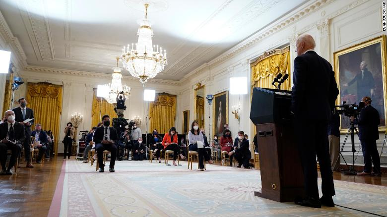 Biden pressed over crisis at the southern border in his first White House news conference