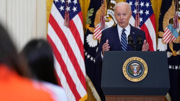 Image for Biden Pressed Over Crisis at the Southern Border in His First White House News Conference