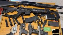 An photo of the weapons Atlanta police said Rico Marley had with him when he was arrested.