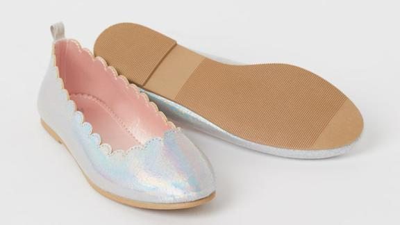 H&M Shimmery Ballet Flats