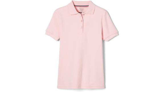 French Toast Short Sleeve Picot Collar Polo Shirt