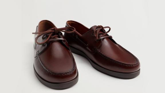 Mango Leather Boat Shoes