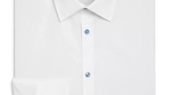The Men's Store at Bloomingdale's Solid Stretch Regular Fit Dress Shirt