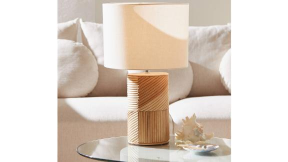 Ria Rattan Table Lamp