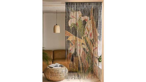 Iris Bamboo Beaded Curtain