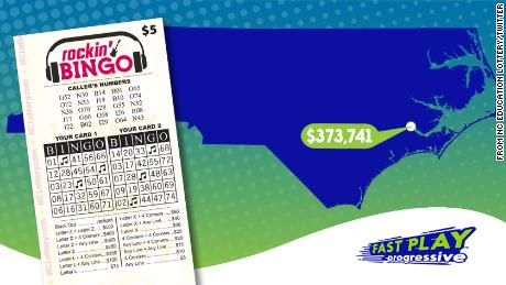 Sadhana Patel of New Bern won $373,741 in a Fast Play lottery jackpot.