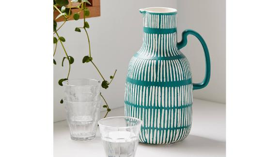 Sabine Etched Ceramic Carafe