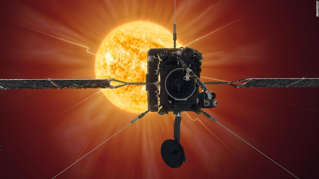 Solar Orbiter is a collaboration between NASA and ESA, designed and built by a team led by Airbus. Launched in February 2020, it will observe the sun in unprecedented detail, as shown in this artist's impression.