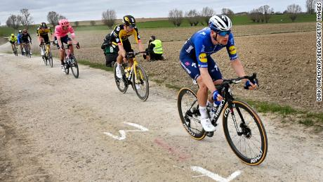 Irish cyclist Sam Bennett found out just how brutal the Gent-Wevelgem race can be.