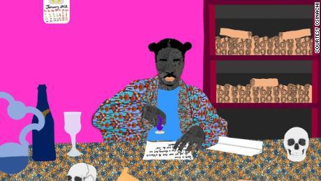 کیمیاگر ، یک اثر هنری دیجیتالی توسط اوسیناچی.