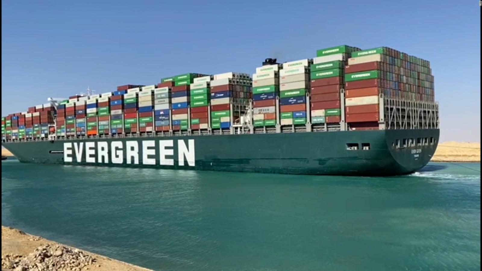 Suez Canal: Watch video of dislodged Ever Given container ship in Egypt -  CNN Video