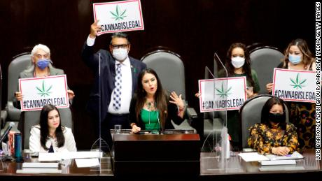 Politicians have been urging the approval of the regulation of marijuana.