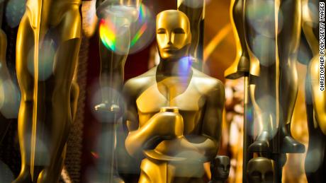 Oscar statues are seen backstage during the 88th Annual Academy Awards at Dolby Theatre in Hollywood, California, February 28, 2016.
