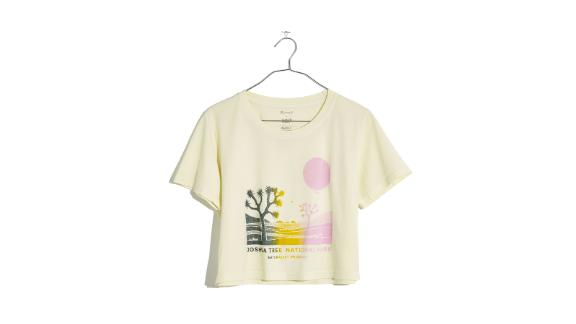 Project Joshua Tree National Park Crewneck Crop Tee