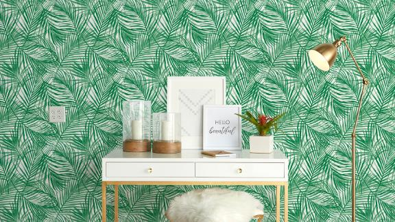 Opalhouse Tropical Peel-and-Stick Wallpaper Green