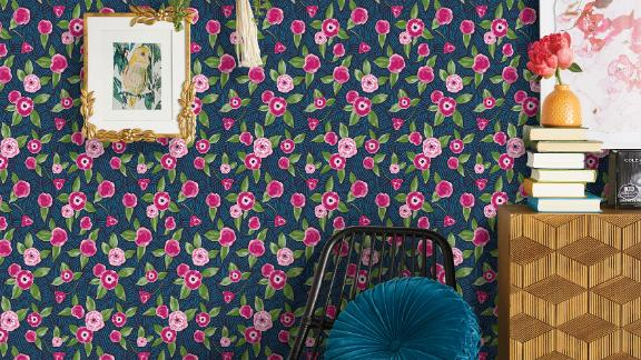 Opalhouse Marker Floral Coordinate Peel-and-Stick Wallpaper