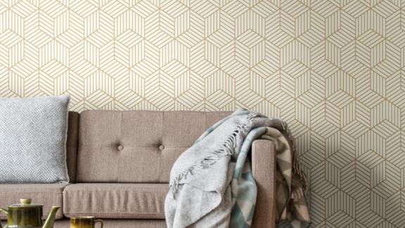 All Modern Enid Striped Hexagon Geometric Peel-and-Stick Wallpaper Roll