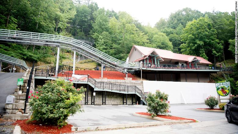 A rider was ejected from a Gatlinburg, Tennessee, roller coaster and flung onto the tracks