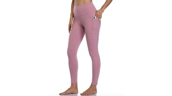 Colorful yoga pants for women with high waist 7/8 length
