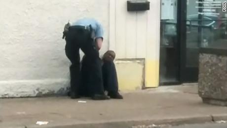 Cellphone footage from Christopher Belfrey showed police handcuff George Floyd and sit him down on the sidewalk on May 25, 2020.