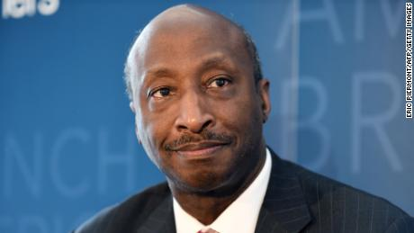 Kenneth Frazier, Chairman of the Board and CEO of US pharmaceutical company Merck looks on during an event with the French-American Foundation in Paris on July 11, 2018.