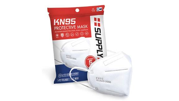 SupplyAid KN95 Protective Masks, 5-Pack