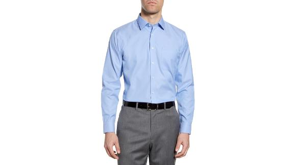 Nordstrom Smartcare Trim Fit Solid Dress Shirt