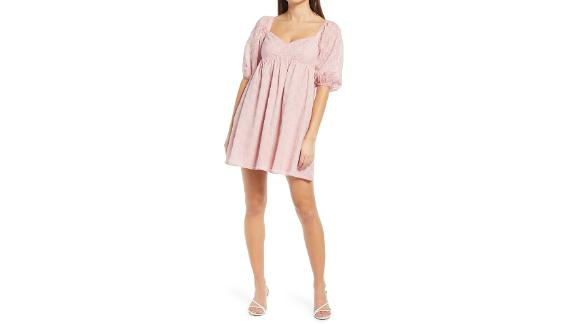 Wayf Ripton Puff Sleeve Babydoll Dress