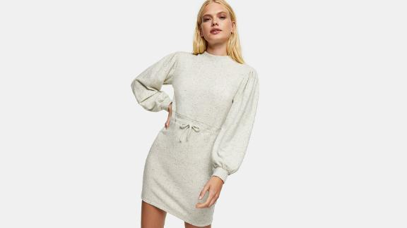 Topshop Cut & Sew Mini Sweatshirt Dress