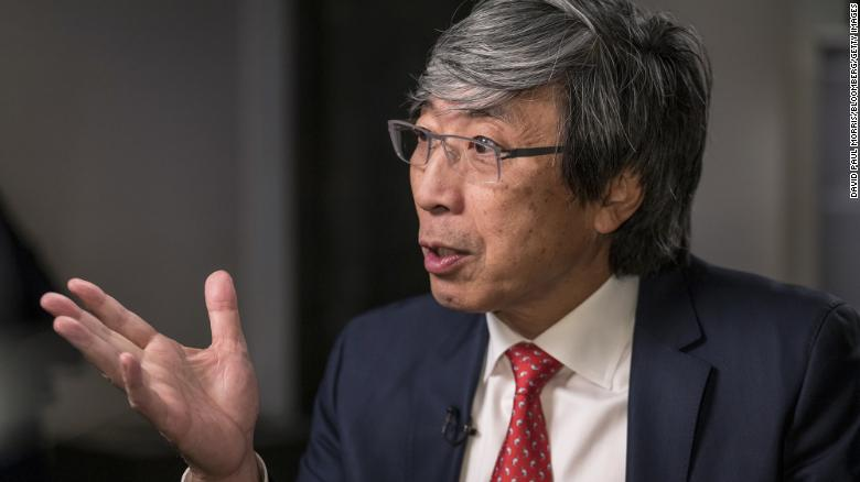 Patrick Soon-Shiong, chief executive officer of NantKwest Inc., speaks during a Bloomberg Television interview at the JPMorgan Healthcare Conference in San Francisco, California, U.S., on Monday, Jan. 13, 2020. NantKwest shares rose by a record after Soon-Shiong said its experimental cancer therapy had shown a dramatic result in one patient with pancreatic cancer during an early-stage clinical trial. Photographer: David Paul Morris/Bloomberg via Getty Images