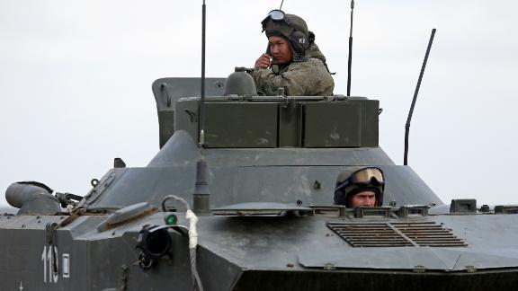 An Andromeda-D automated control system takes part in an exercise held by units of the Novorossiysk guards mountain air assault division of the Russian Airborne Troops at Opuk range in Crimea.