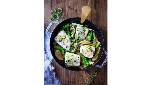 Baked Cod With Lemon, Garlic and Thyme by Sylvia Fountaine