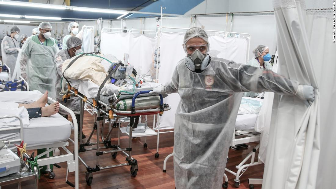 'It hurts': Health workers on battling Brazil's worst Covid-19 wave yet