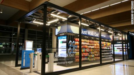 "Hudson Nonstop opened in March at Dallas Love Field Airport. It features Amazon's ""Just Walk Out"" technology."