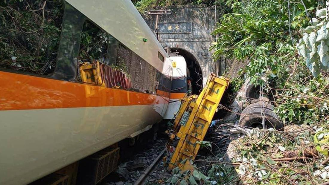 Taiwan train crash: Derailment north of Hualien kills 50 people - CNN