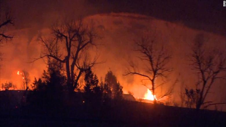 A North Dakota town is evacuated as governor declares a statewide emergency due to wildfires