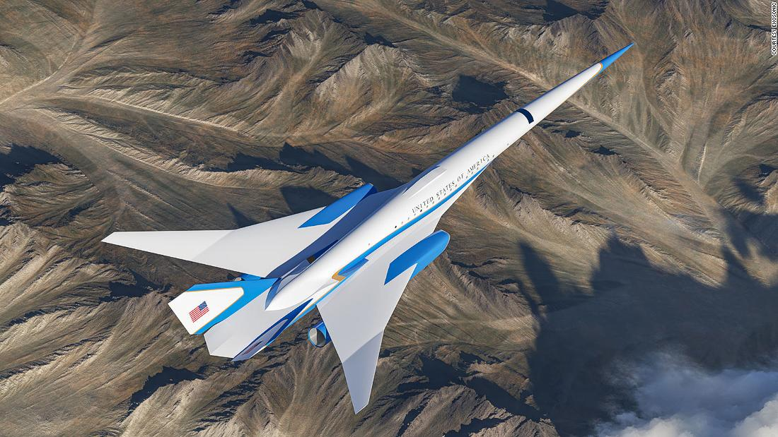 Exclusive look at designs for US supersonic presidential jet