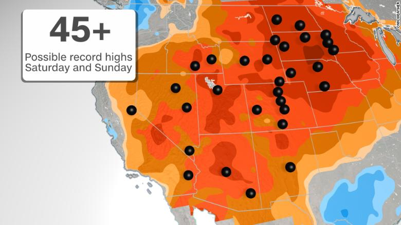 A spring warmup is on the way for the East this weekend, while the Southwest bakes